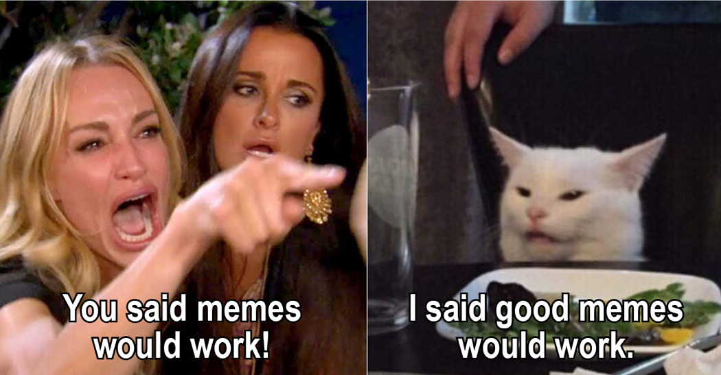 You Said Memes Would Work - I said Good memes would work