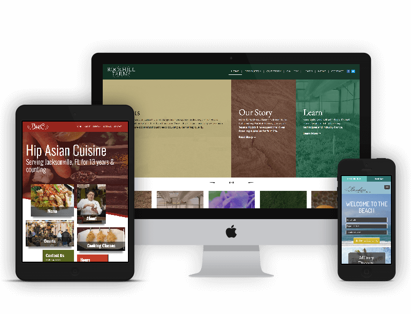 Examples of our website designs