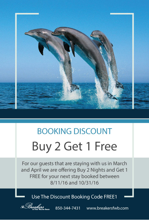Booking discount flyer design